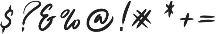 Ruthen Back otf (400) Font OTHER CHARS