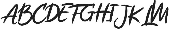 Ruthen Back otf (400) Font UPPERCASE