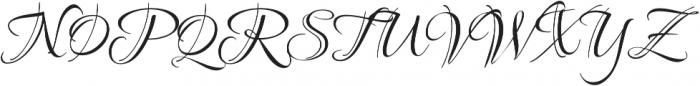 Ruthie otf (400) Font UPPERCASE