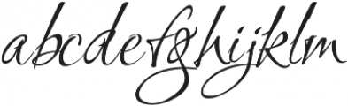 Ruthie otf (400) Font LOWERCASE