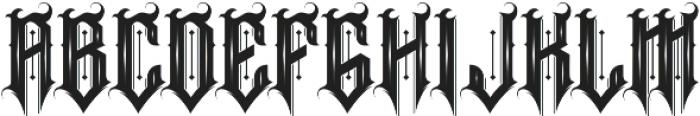 Ruthless ttf (400) Font UPPERCASE