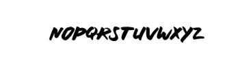 RUNNING.ttf Font UPPERCASE
