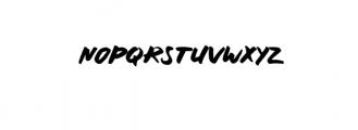 RUNNING.ttf Font LOWERCASE