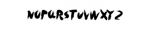 Rush.otf Font UPPERCASE
