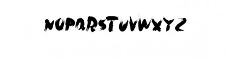 Rush.otf Font LOWERCASE