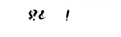 Rush.ttf Font OTHER CHARS