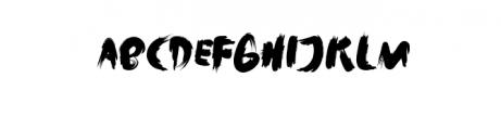 Rush.ttf Font UPPERCASE
