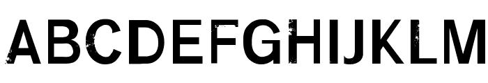 RUFF Font UPPERCASE