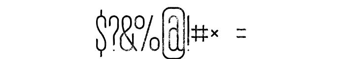 Ruas Medium Grunge Font OTHER CHARS