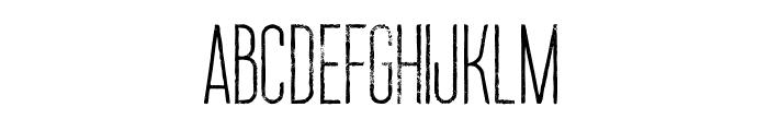 Ruas Medium Grunge Font UPPERCASE