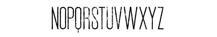 Ruas Medium Grunge Font LOWERCASE