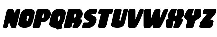 Rubber Boy Bold Italic Font UPPERCASE