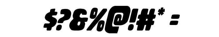 Rubber Boy Condensed Italic Font OTHER CHARS