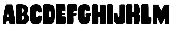 Rubber Boy Condensed Font UPPERCASE