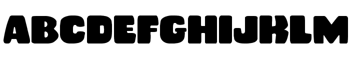 Rubber Boy Expanded Font UPPERCASE