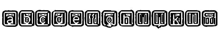 Rubber Hell Font LOWERCASE