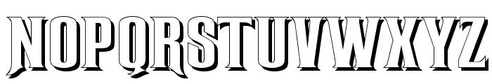 RubensShadow Font UPPERCASE