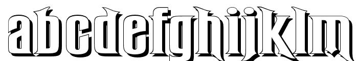 RubensShadow Font LOWERCASE