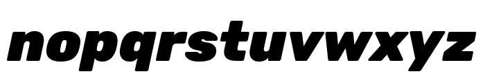 Rubik Black Italic Font LOWERCASE