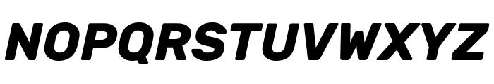 Rubik Bold Italic Font UPPERCASE