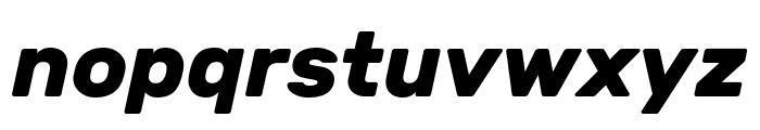 Rubik Bold Italic Font LOWERCASE