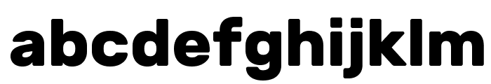 Rubik Bold Font LOWERCASE