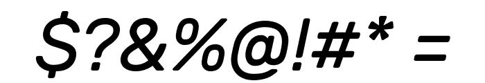 Rubik Italic Font OTHER CHARS