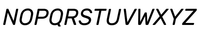 Rubik Italic Font UPPERCASE