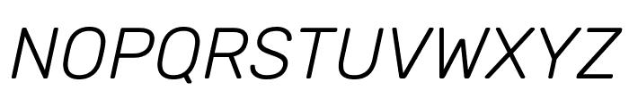 Rubik Light Italic Font UPPERCASE