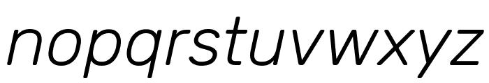 Rubik Light Italic Font LOWERCASE