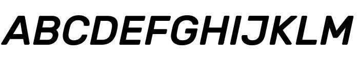 Rubik Medium Italic Font UPPERCASE
