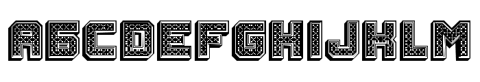 Rubles 3D Regular Font UPPERCASE