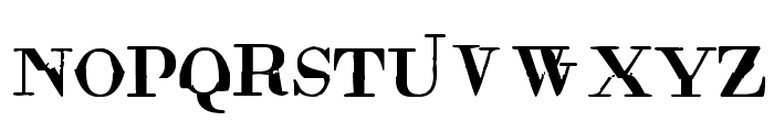 Rude Basic Font UPPERCASE