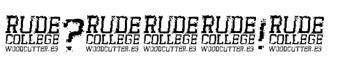 Rude College Font OTHER CHARS