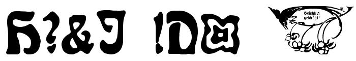 Rudelsberg-Initialen Font OTHER CHARS