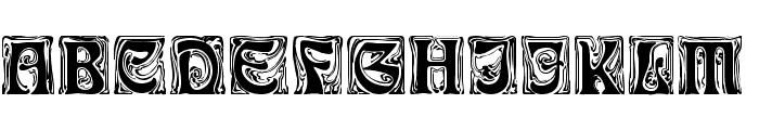 Rudelsberg-Initialen Font UPPERCASE