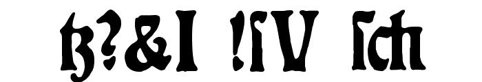 Rudelsberg-Plakatschrift Font OTHER CHARS