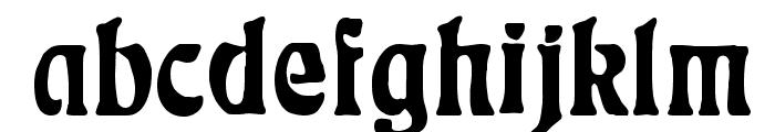 Rudelsberg-Plakatschrift Font LOWERCASE