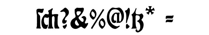 RudelsbergAlternate Font OTHER CHARS