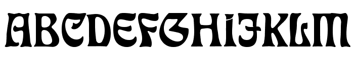 RudelsbergAlternate Font UPPERCASE