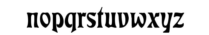 Rudelsberg Font LOWERCASE