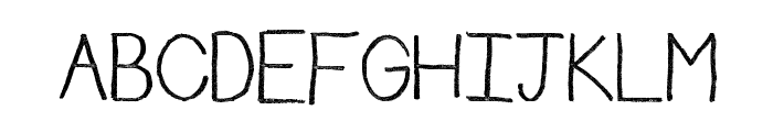 Rudiment Font UPPERCASE