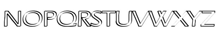 Ruffian Outline Font UPPERCASE