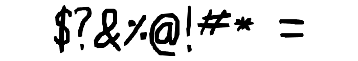 Ruji's Handwriting Font Font OTHER CHARS