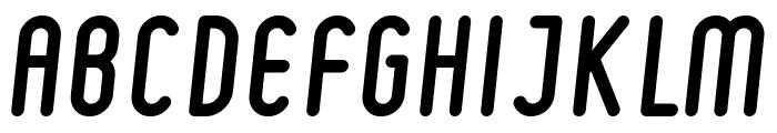 Ruler Bold Italic Font UPPERCASE