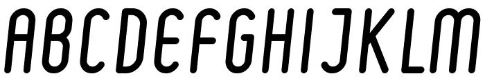 Ruler Italic Font UPPERCASE