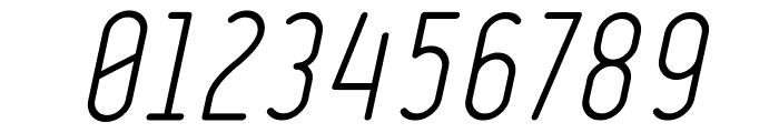 Ruler Light Italic Font OTHER CHARS