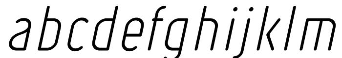 Ruler Light Italic Font LOWERCASE
