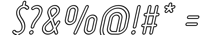 Ruler Outline Italic Font OTHER CHARS