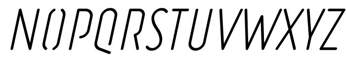 Ruler Stencil Light Italic Font UPPERCASE
